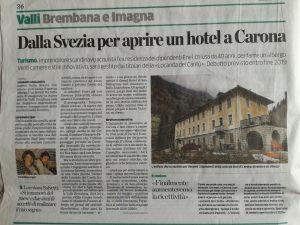 Articolo Eco di Bergamo - Locanda dei Cantù