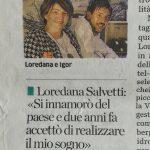 Lory e Igor articolo l'Eco di Bergamo