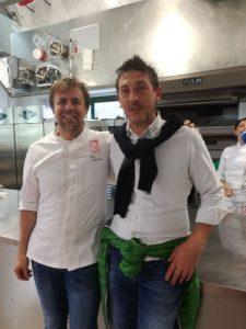 Igor Bana con Chef Montersino