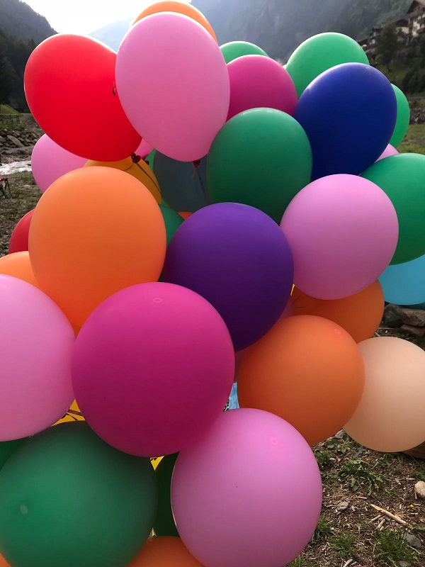 palloncini evento Pranic Healing - Locanda dei Cantù